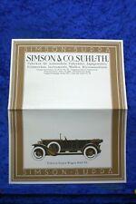 Simson Supra 1926 Prospekt (A1071) FAKSIMILE Archiv Verlag