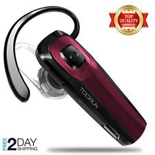 Toorun M26 Red Steel Waterproof Bluetooth Headset with Oem Car Charger