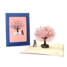 Cherry Blossom Tree Pop Up Greeting  3D Card Gift Valentine Anniversary Wedding