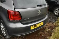2009 - 2014 VOLKSWAGEN POLO MK5 5DR REAR BUMPER WITH PDC - PEPPER GREY METALLIC