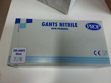 Gloves Nitrile Non Powders Size Medium 7/8 Prop Blue Box of 200 Gloves