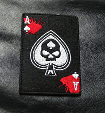 SKULL INFIDEL ACE SPADE DEAD MAN  HAND TACTICAL COMBATMORALE HOOK PATCH
