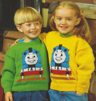 "Thomas The Tank Engine Sweater 20""- 28"" Baby/Childrens DK Knitting Pattern"