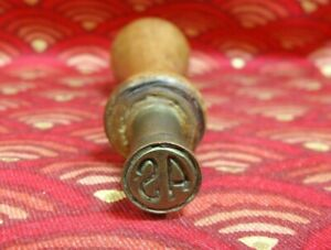 Antique Wood & Brass South American Personal Sealing Wax Stamp Seal No.10