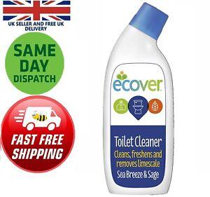 Ecover Toilet Cleaner Sea Breeze & Sage 750ml Flush Rim Waterline Decalcifies UK