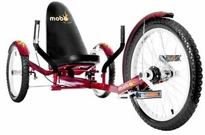 Mobo Triton Pro Ultimate Three Wheeled Cruiser Kids Adult Ride On Red Trike NEW