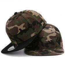 Camouflage Snapback Polyester Cap Blank Flat Camo Baseball Cap Wide Brim Cool