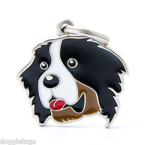 Bernese (Berner) Dog ID Tag (09) - Engraved FREE - Personalised Identity - Charm