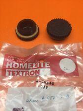 (2) GENUINE HOMELITE XL XL2 SUPER 2 GAS OIL FILL CAP A70446 A69277 NEW OEM —B28