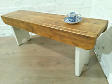 F&B PAINTED Antique 4ft Rustic Reclaimed Old Pine Dining Plank Table Chair BENCH