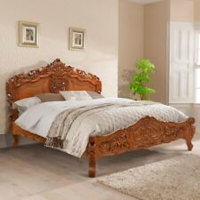 Super King 6' Mahogany Natural finish Rococo bed