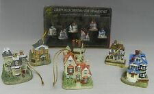 6 Liberty Falls Christmas Tree Ornaments School Boarding House Mansion Train