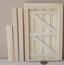 1:12 Scale Lutyens Internal Opening Wooden Door & Frame Tumdee Dolls House 370