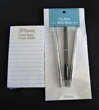 #8475- WELLSPRING 3 Refill Pads White w/Lines & 3 Pens Set for FLIP NOTE CASE