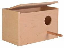 Pájaro de madera de anidación Caja Con Tapa Con Bisagras perca & groved Nido base 30cm