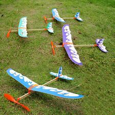 Foam Elastic Powered Glider Plane Thunderbird Flying Model Kit Aircraft Toy Gift