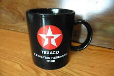 Vintage TEXACO Mug Catalysis Research Black Cup Red & white star TRCB Pen Holder