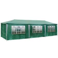 Gazebo da giardino tendone tenda per festa party con parti laterali 9x3 m verde