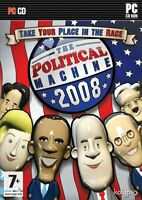 The Political Machine 2008 (PC CD) NEW SEALED 08