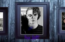 Evan Peters American Horror Story SIGNED & FRAMED 10x8 REPRO PHOTO PRINT