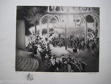 GANDON PIERRE GRAVURE 1937 SIGNÉ AU CRAYON NUM HANDSIGNED ETCHING ART DÉCO PARIS