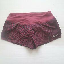 b656148c694b Nike Women s Dry Crew Shorts 2 Size Small Wine Purple Zebra Liner A1