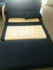 black 2 and 3 seater sofa