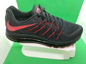 NIKE AIR MAX ID 2015 BLACK RED SIZ 12 MEN SNEAKERS SHOE 746764-993