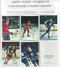 1977-78 TOPPS HOCKEY GLOSSY INSERT SQUARE CORNERS YOU PICK FROM SCANS #1 TO #22
