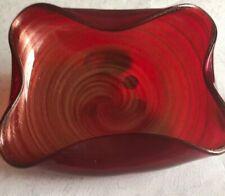 Barovier & Toso Seltener Murano Blattgold Schale viereckig 3.280 g