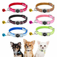 6pcs Kitten Cat Breakaway Collar Pet Puppy Small Dog Safety Quick Release&Bell
