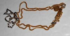 "Alfieri & St. John Bracelet 18K gold 750 Chain White Gold Charms 7.5"" long 7g"