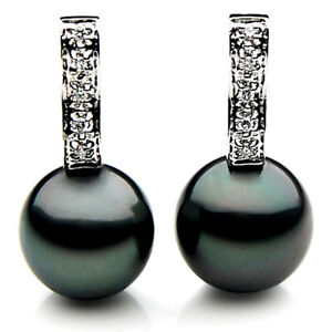 New Genuine Tahitian Diamond Pearl Earrings 13mm Pacific Pearls® Thank You Gifts