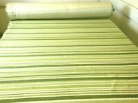 NEXT Soft Feel Green Stripe Chenille Curtain Upholstery Fabric Material 153cm