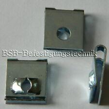 50 Stk. Blechmutter 4,8mm Stahl verzinkt , Klemmmutter , Schnappmutter II