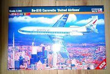 SE 210 CARAVELLE (SCANDINAVIAN SAS &  UNITED AIRLINES MKGS) 1/144 MISTERCRAFT