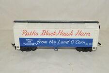Ho scale Ihc Mehano Rath Black Hawk Ham meat 40' billboard reefer car train