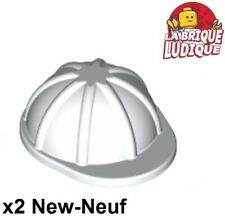 Lego - 2x Minifig headgear casque helmet chantier travaux blanc/white 3833 NEUF