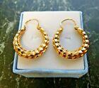 Boucles d oreilles anciennes or jaune 18 carats  poincon tete d aigle