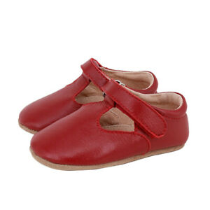 NEW SKEANIE Baby & Toddler Leather T-Bar Shoes Red. RRP $54.95