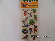 Ancien ADHESIF RELIEF PEGATINAS SUPER-HEROS  1981  K19