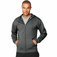 Hanes Sport Men's Performance Fleece Zip Up Hoodie w/ Pouch Pockets - 4 COLORS