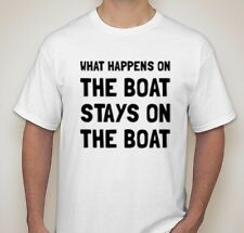 what happens on the boat stays on the boat ship ocean waves shirt t-shirt