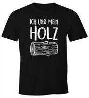 Herren T-Shirt Ich und mein Holz Fun-Shirt Moonworks®