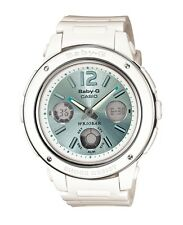 Casio Baby-G * BGA150-7B2 Large Face White & Mint Anadigi Women COD PayPal