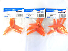 Gemfan Orange 5 X 4 5040 Glass Fiber Three Bladed Quadcopter Props - 12 Props