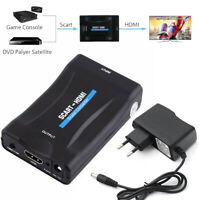 1080P SCART to HDMI HDTV Audio Video Converter Adapter for DVD SKY TV PS3 DVB PC