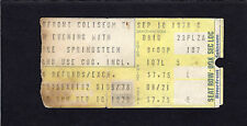 1978 Bruce Springsteen concert ticket stub Cincinnati OH Darkness Edge Of Town