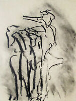 DE KOONING - POEM # 2 - ORIGINAL LITHOGRAPH - 1987 -  FREE SHIP IN US !!!