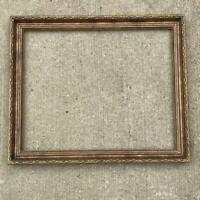 """Vintage 21""""x25"""" Painted Gold Wood Ornate Picture Frame"""
